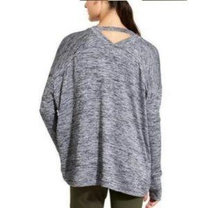Athleta grey pose wrap sweater